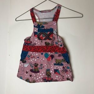 Jelly The Pug 3T Dress Overalls Puppies 3 pink